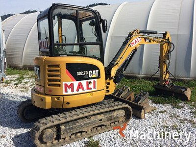 CATERPILLAR CAT 302.7D mini ekskavatorių 1-7t. nuoma